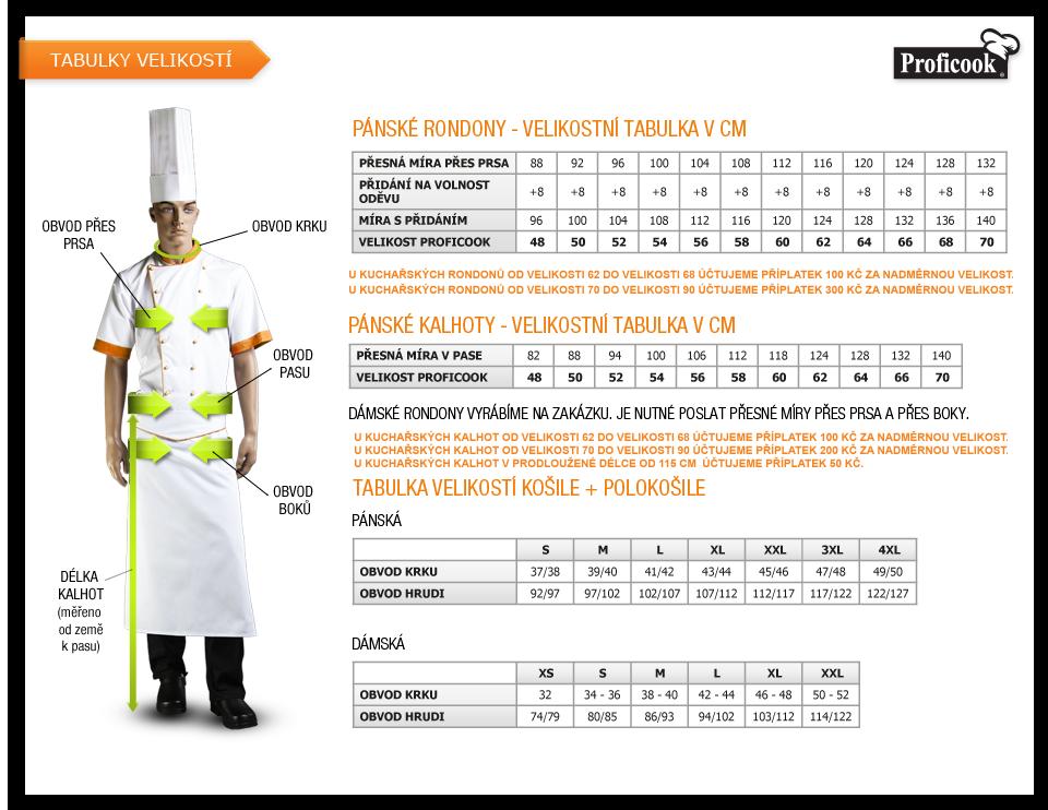 Proficook - prodej a zakázkové šití profesních oděvů pro kuchaře ... 4278e32afe